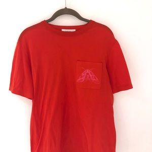Carven t-shirt top with fly logo on chest pocket
